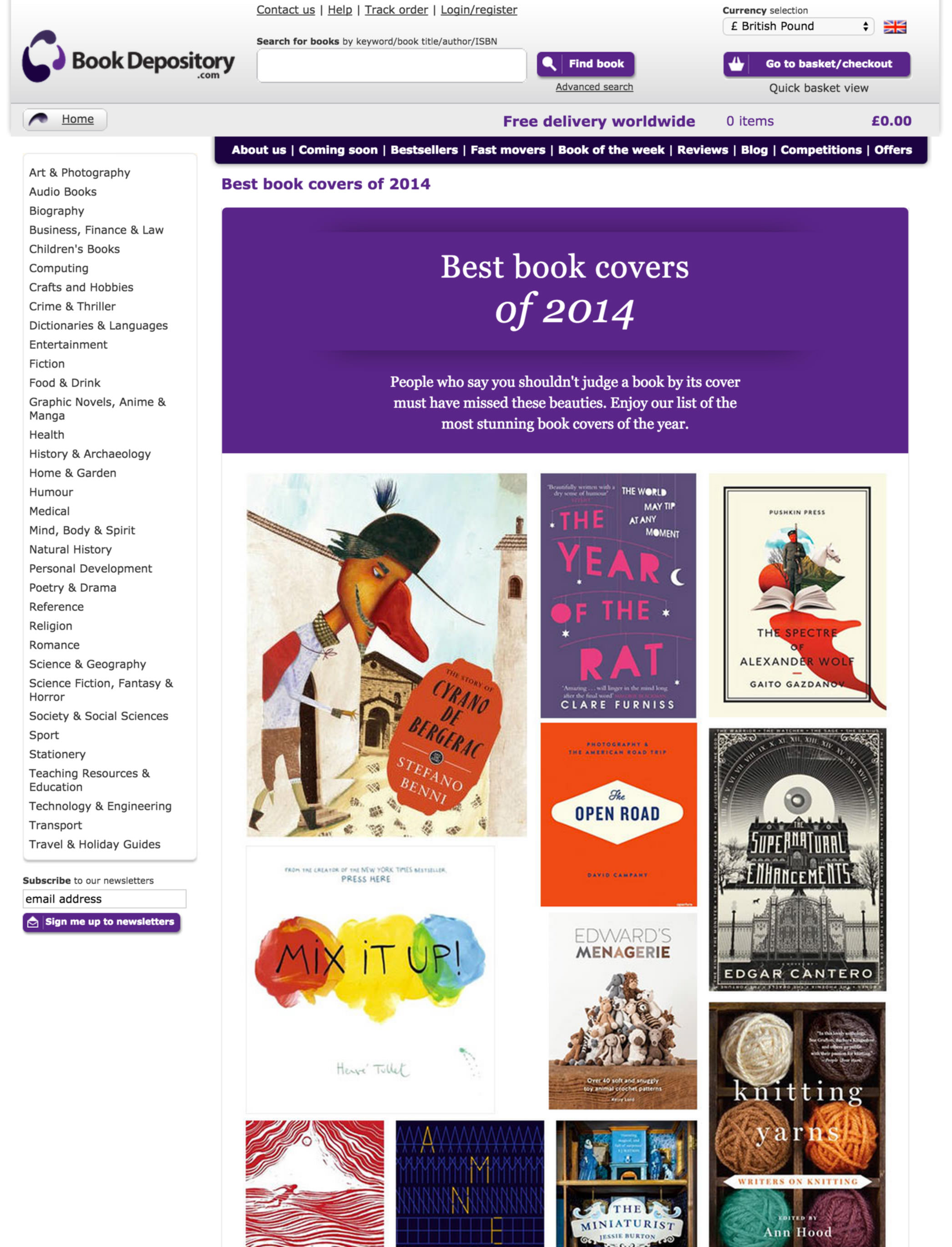 Best book covers landing page