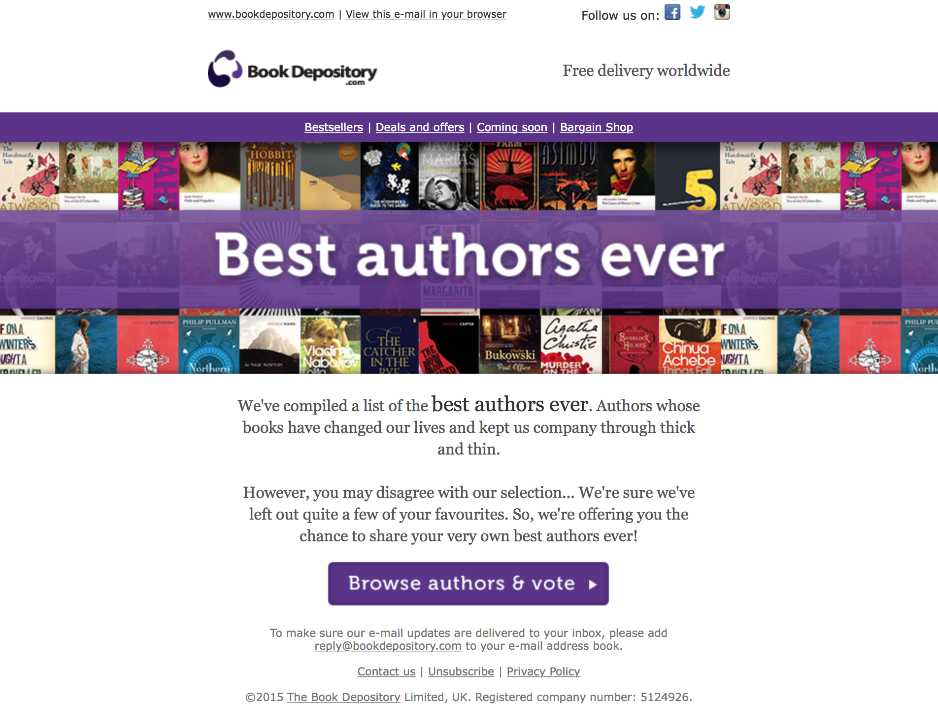 Best Authors email