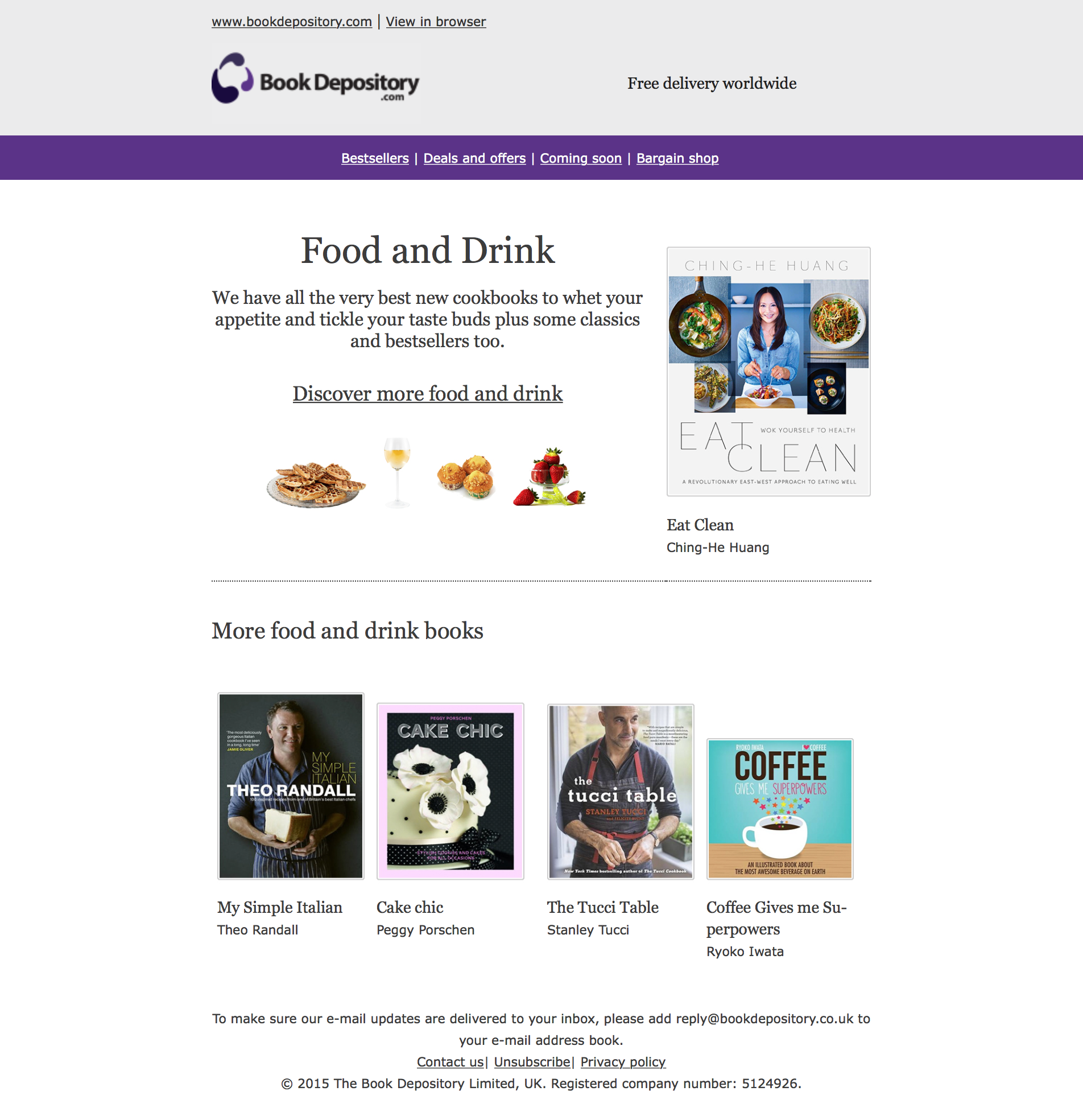 Food and Drink email