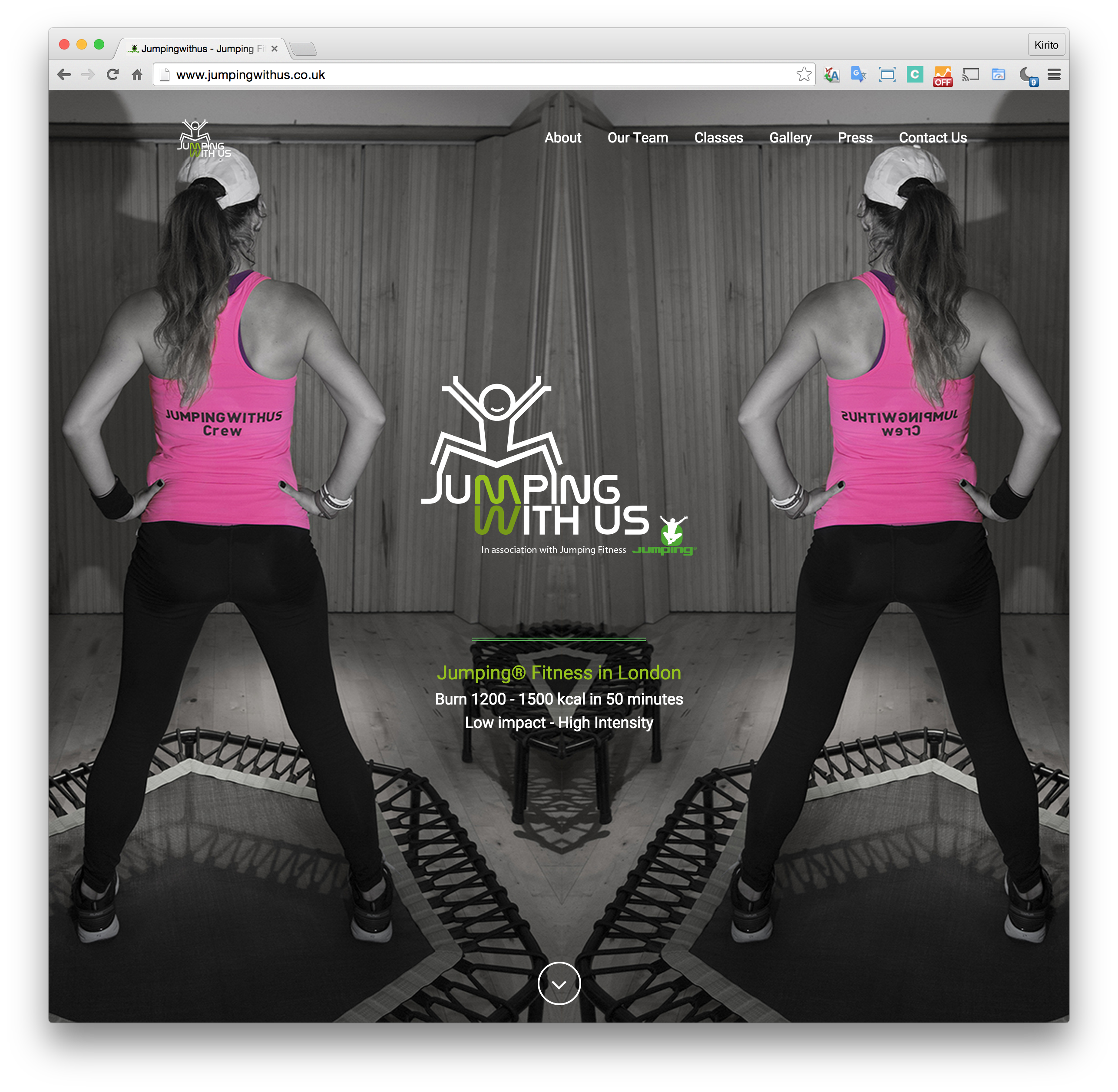 Jumpingwithus Landing page